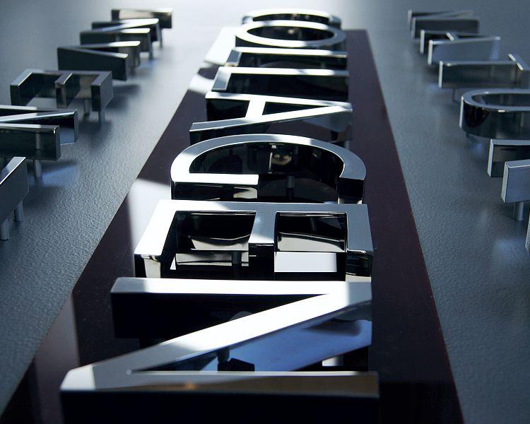 litery ze stali nierdzewnej polerowanej litery do wnętrz