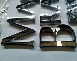 litery ze stali nierdzewnej litery dla kancelarii