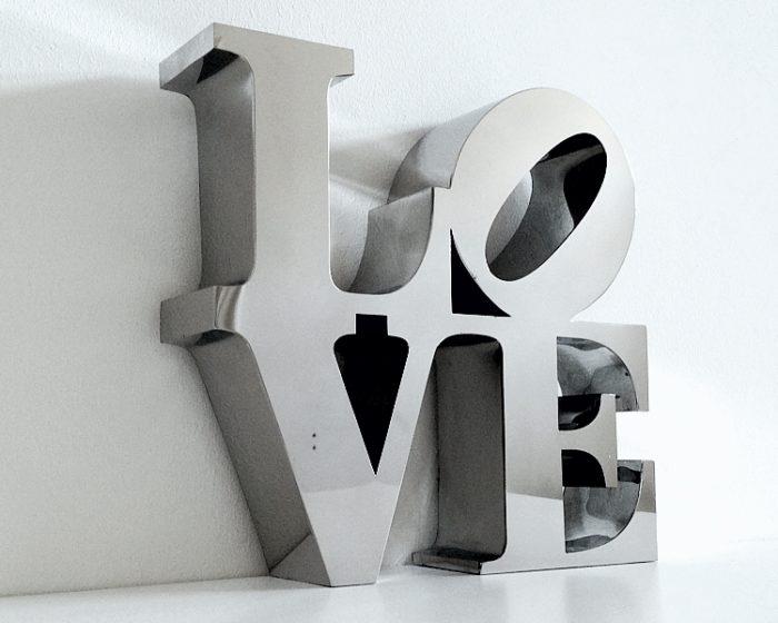litery ze stali nierdzewnej design dekoracja