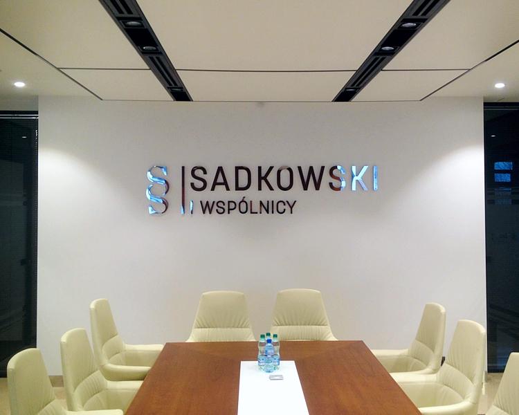 litery ze stali nierdzewnej polerowanej litery do wnętrz litery do kancelarii