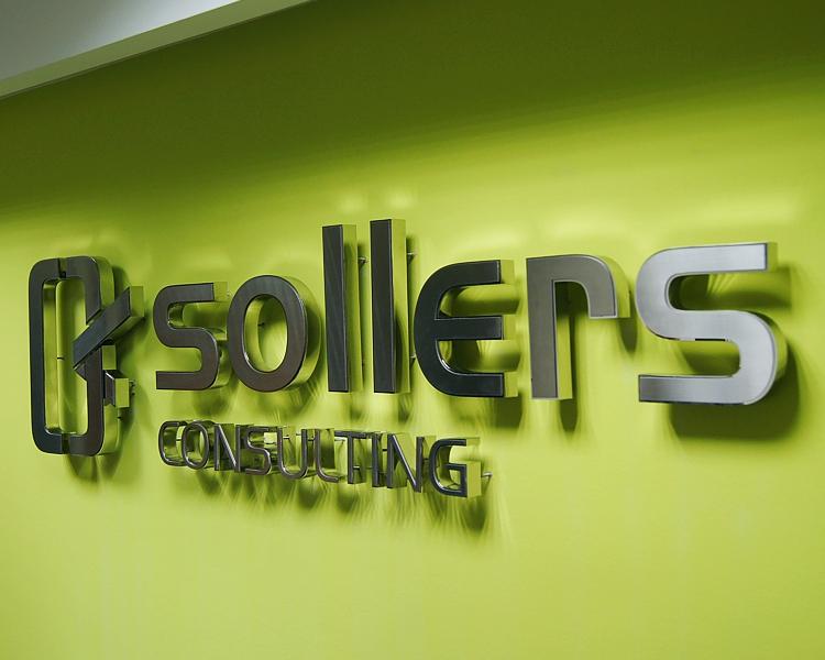 litery ze stali nierdzewnej logo do wnętrza do biura