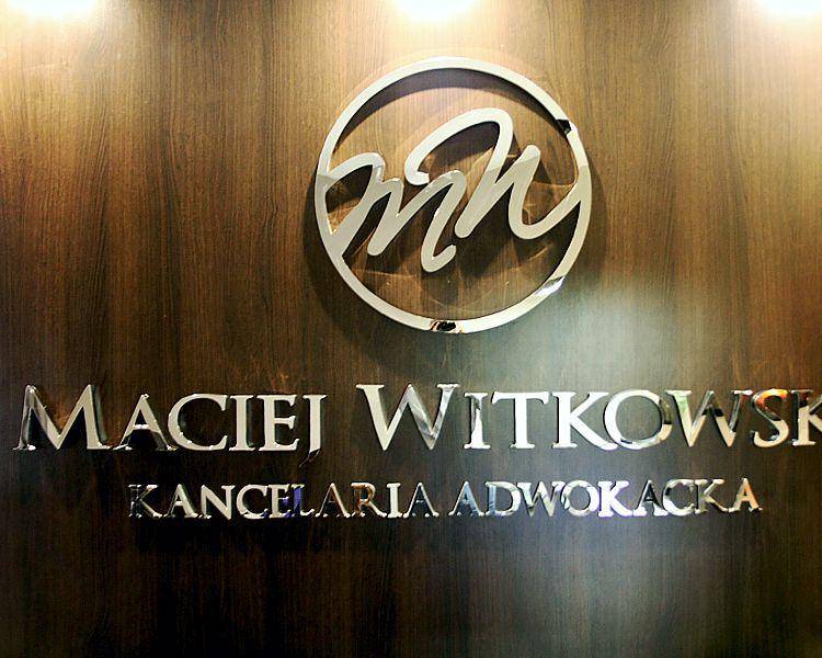 litery ze stali nierdzewnej polerowanej litery dla kancelarii prawnej